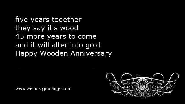 Funny 5th Marriage Sayings Short Wedding Wishes Anniversary