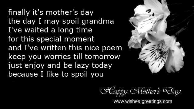Funny Grandma Poems For Mother Day
