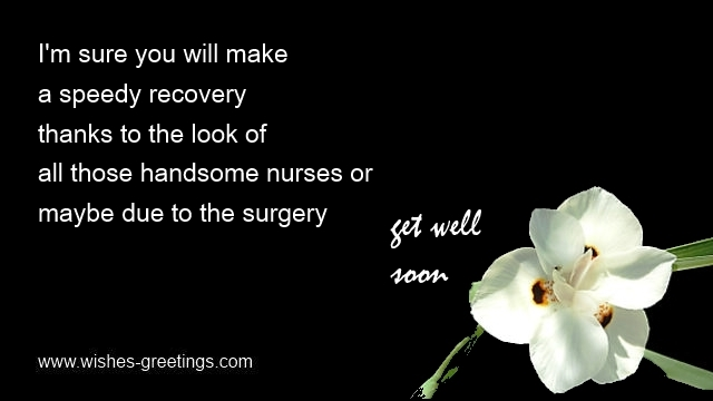 comfort words after sight surgery