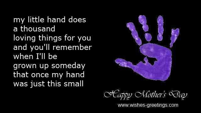 ... Handprint Poem For Motheru0027s Day Template ...