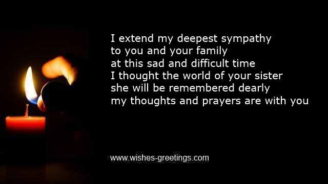 short bereavement verses loss of a sister