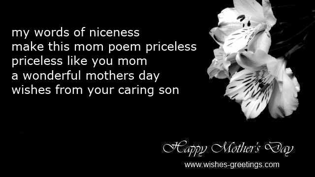 Mother To Son Quotes And Poems mothers day poems from son
