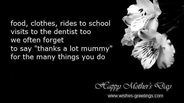 thank you poems for mothers day